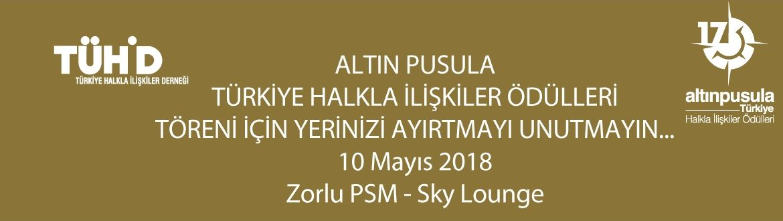 17. Altın Pusula Ödülleri 10 Mayıs 2018 Perşembe Akşamı Zorlu PSM Sky Lounge'da