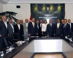 TOBB Türkiye Medya ve İletişim Meclisi'nden Bilim, Sanayi ve Teknoloji Bakanı Nihat Ergün'e ziyaret