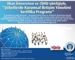 """TÜHİD ve Okan Üniversitesi İşbirliğiyle """"Şirketlerde Kurumsal İletişim Yönetimi"""" Sertifika Programı"""